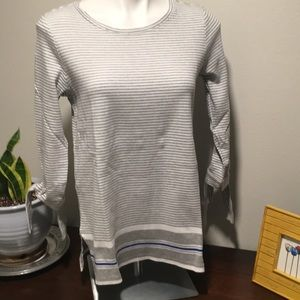 Liz Claiborne light cotton sweater material sz med